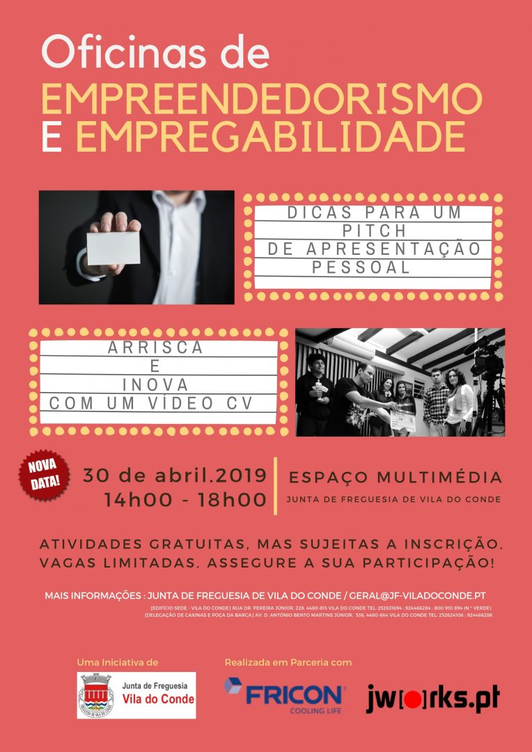 Cartaz oficinas abril