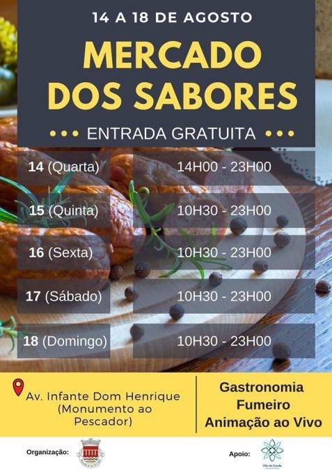Mercado dos Sabores. 14 a 18 Agosto
