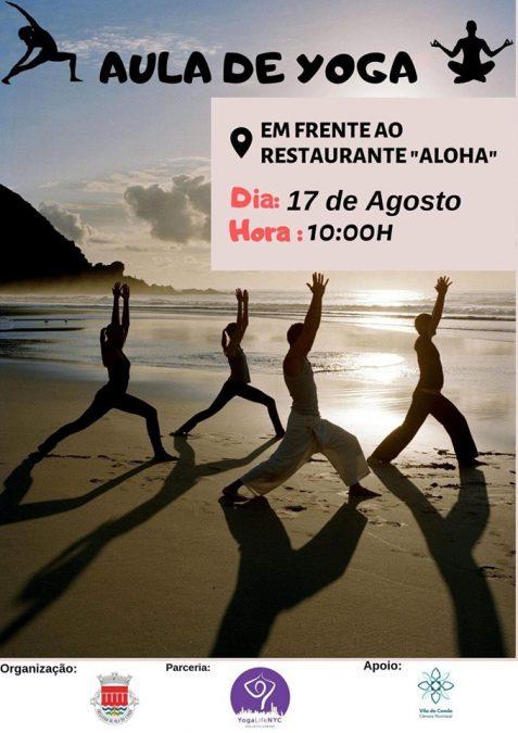Aula de Yoga na Praia 17 de Agosto