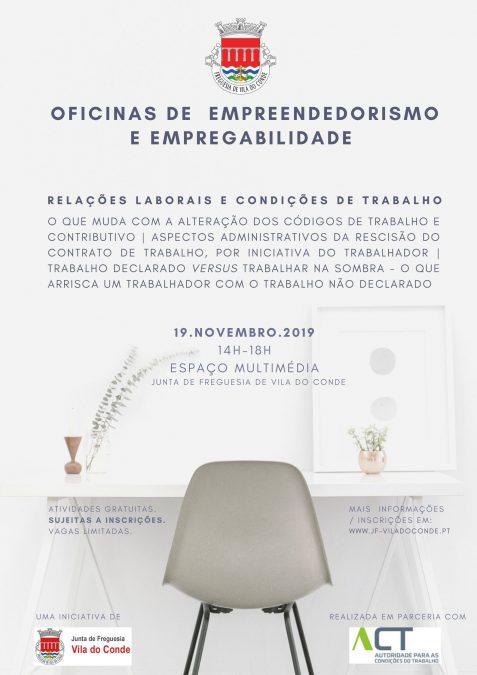Novas oficinas de empreendedorismo e empregabilidade