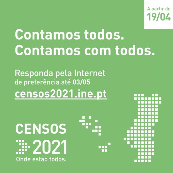 CENSOS 2021: XVI Recenseamento da População e o VI Recenseamento da Habitação