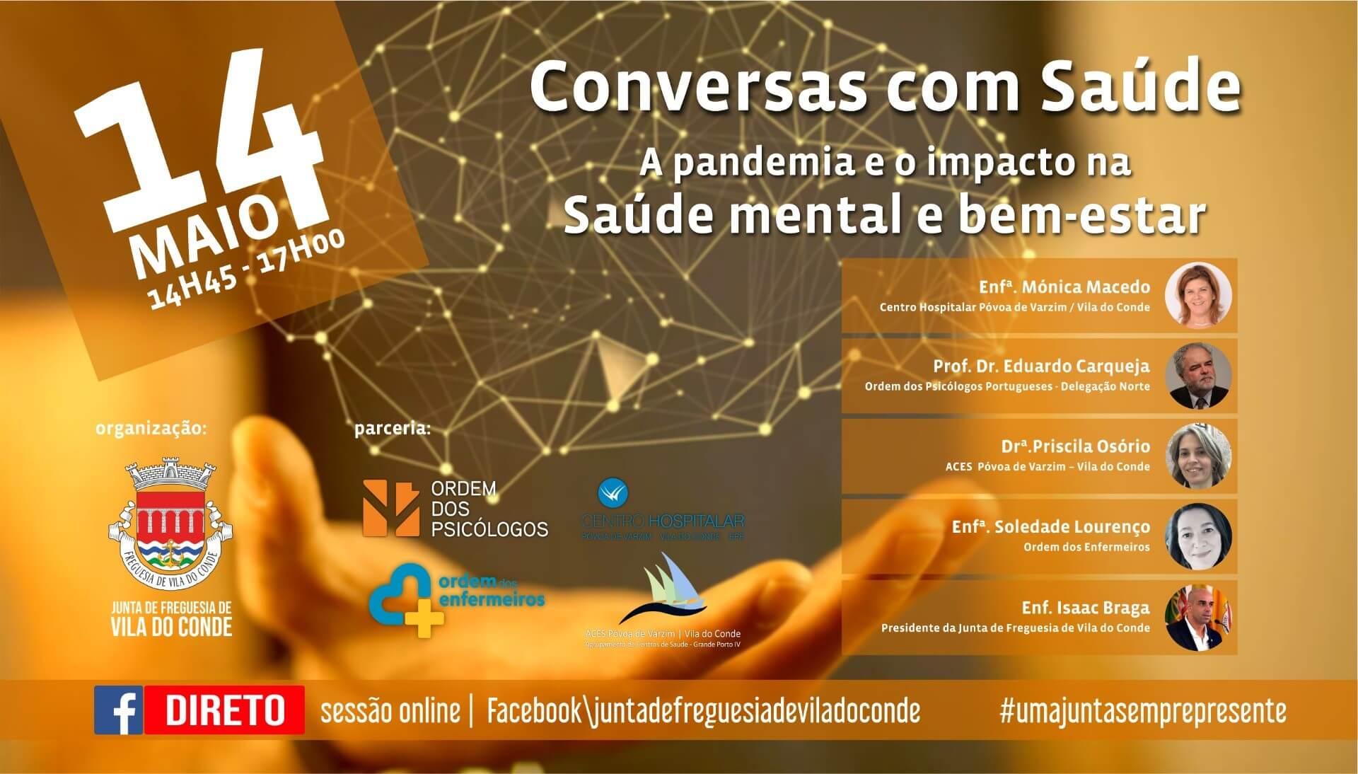 """CONVERSAS COM SAÚDE: """"A pandemia e o impacto na saúde mental e bem-estar"""""""