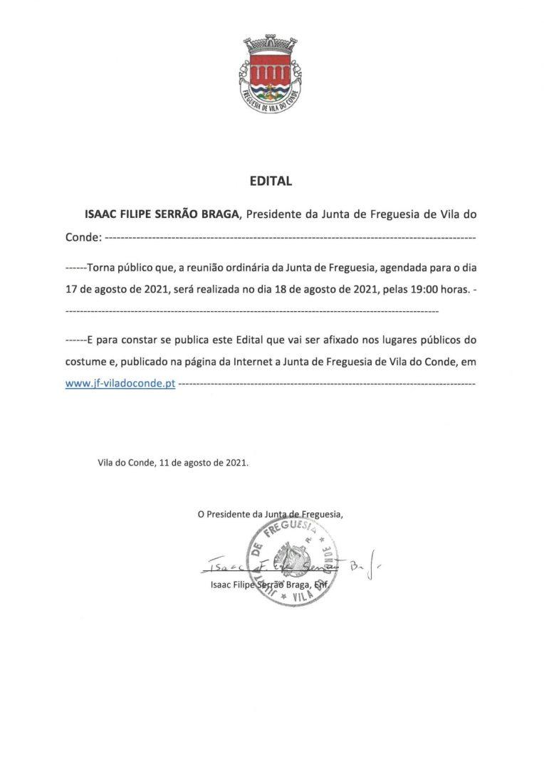 Sessão Pública do Executivo da Junta de Freguesia de Vila do Conde